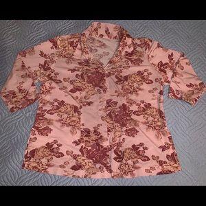 Tops - Vintage 90s floral button up top
